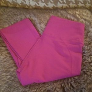 Fabletics High Waisted Hot Pink Leggings Small